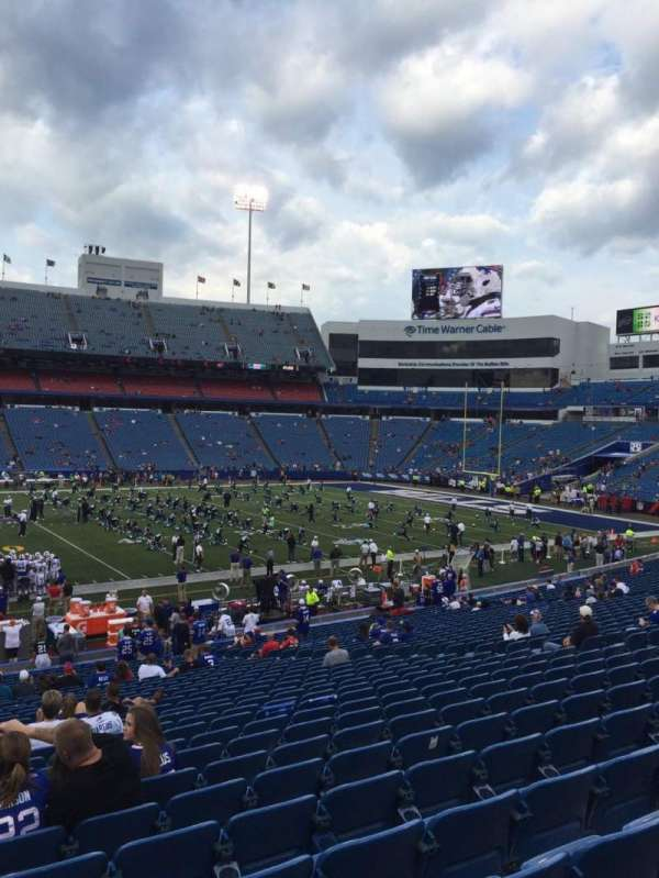 New Era Field, section: 134, row: 33, seat: 18