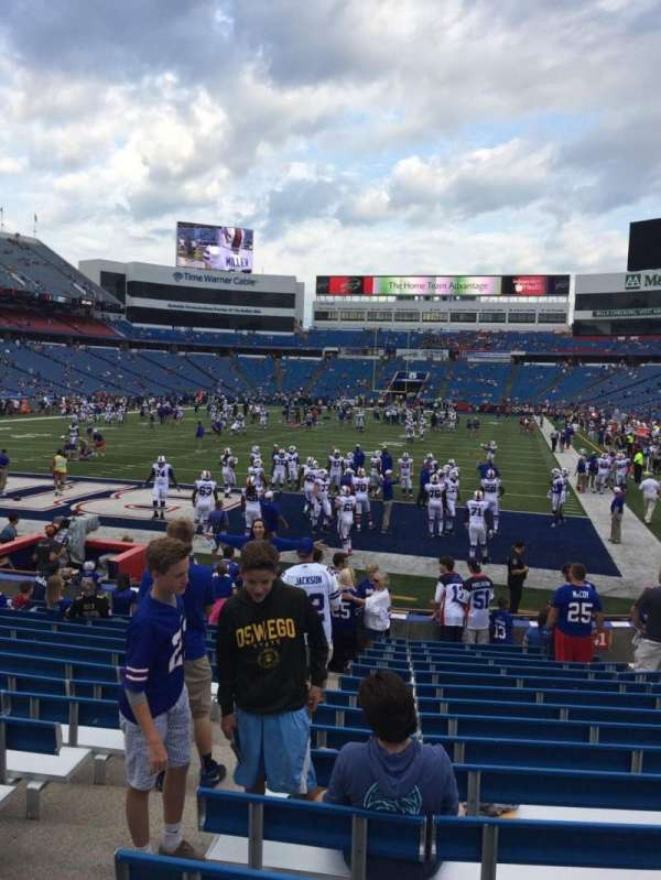 New Era Field, section: 142, row: 16, seat: 10