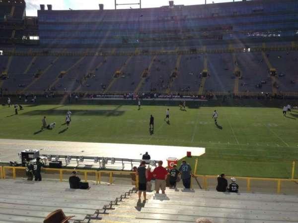 Lambeau Field, section: 115, row: 19, seat: 4