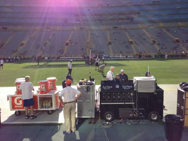 Lambeau Field, section: 119, row: 1, seat: 13