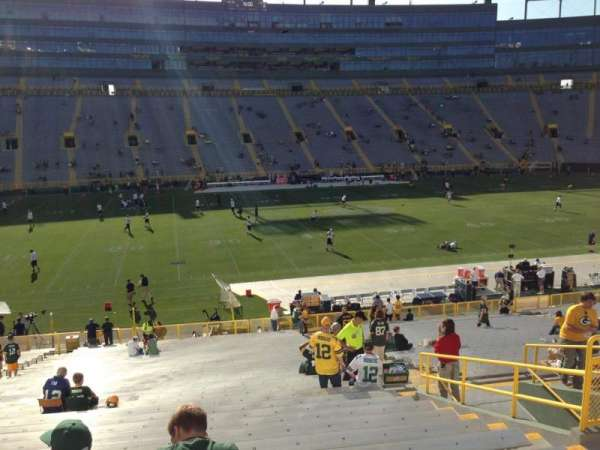 Lambeau Field, section: 123, row: 38, seat: 10