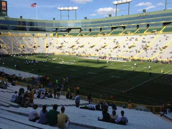 Lambeau Field, section: 130, row: 31, seat: 1