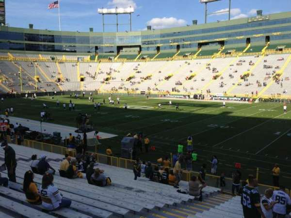 Lambeau Field, section: 130, row: 31, seat: 15