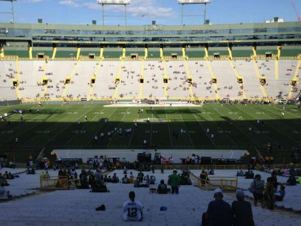Lambeau Field, section: 120, row: 58, seat: 16