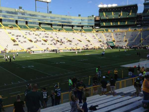 Lambeau Field, section: 112, row: 13, seat: 17