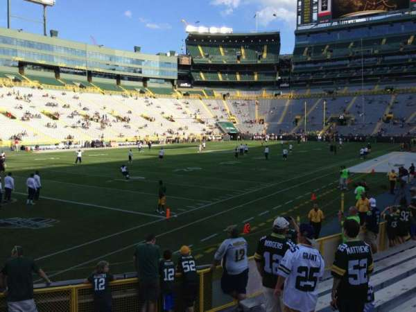 Lambeau Field, section: 110, row: 7, seat: 6