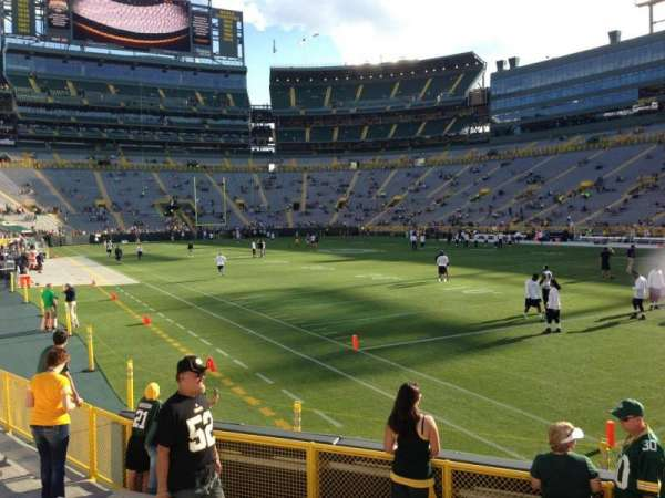 Lambeau Field, section: 107, row: 8, seat: 13