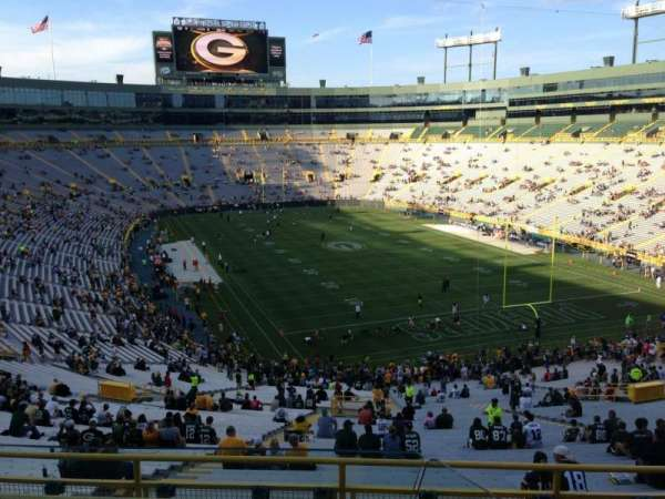 Lambeau Field, section: 348, row: 2, seat: 1