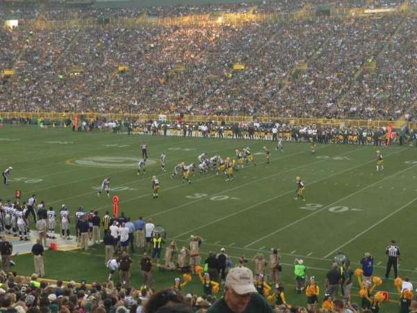 Lambeau Field, section: 111, row: 32, seat: 3