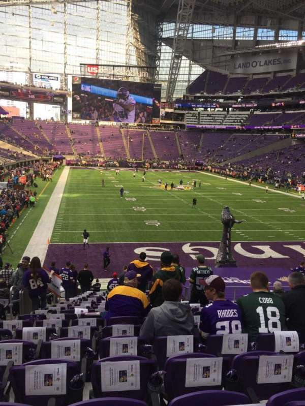 U.S. Bank Stadium, section: 121, row: 21, seat: 21