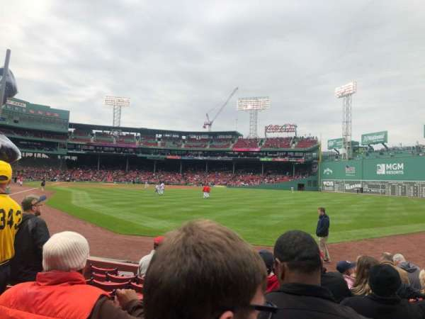Fenway Park, section: Right Field Box 2, row: H, seat: 16