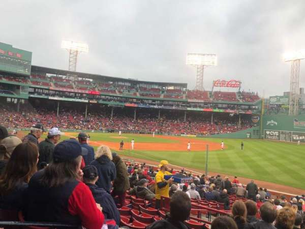Fenway Park, section: Right Field Box 95, row: TT, seat: 10