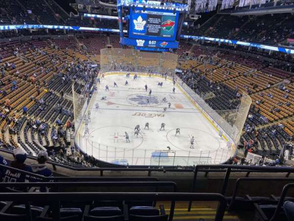 Scotiabank Arena, section: Molson, row: 1, seat: 16-17