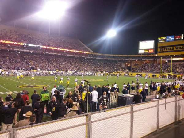 Sun Devil Stadium, section: 9, row: 4, seat: 23