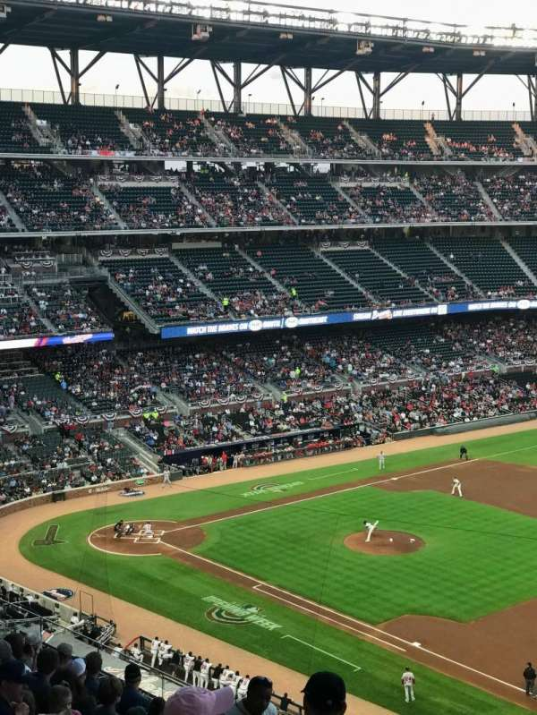 Truist Park, section: 315, row: 10, seat: 22