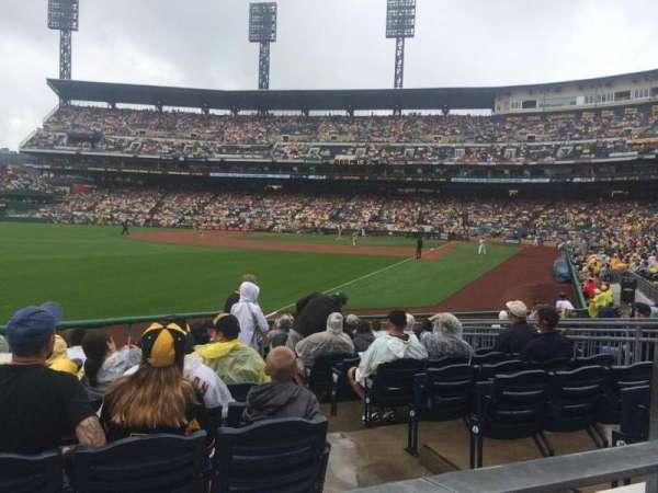 PNC park, section: 131, row: A, seat: 12