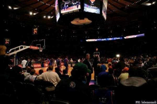 Madison Square Garden, section: 10, row: F, seat: 3