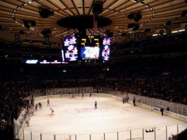 Madison Square Garden, section: 116, row: F, seat: 13