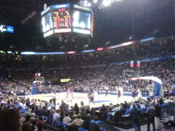 Chesapeake Energy Arena, section: 103, row: G, seat: 4