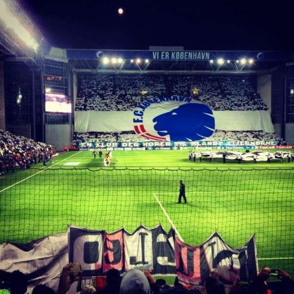 Parken Stadium, section: D - Tribunen (Away Section)