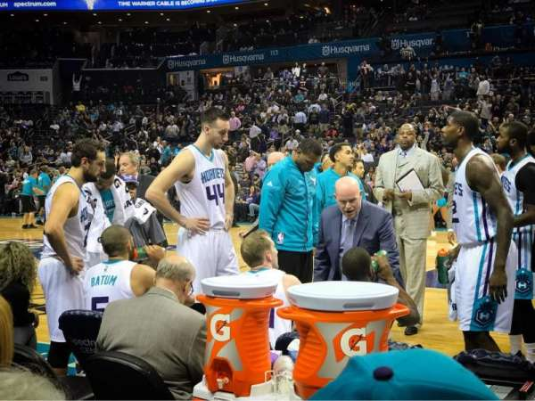 Spectrum Center, section: 104, row: A, seat: 6
