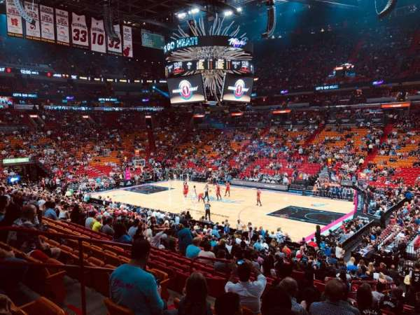 American Airlines Arena, section: 116, row: 23, seat: 9