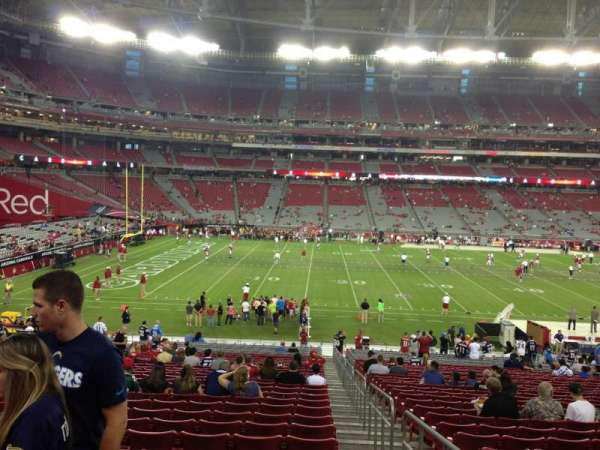 State Farm Stadium, section: 133, row: 35, seat: 1