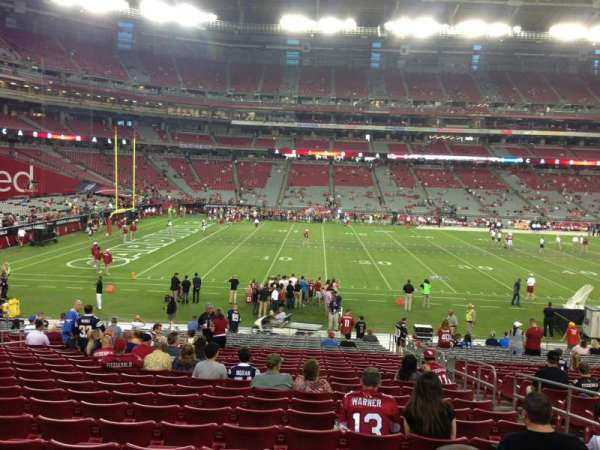 State Farm Stadium, section: 133, row: 26, seat: 5