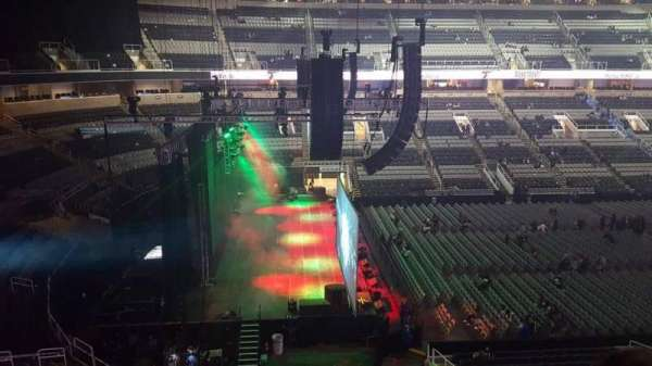 SAP Center, section: 217, row: 2, seat: 6