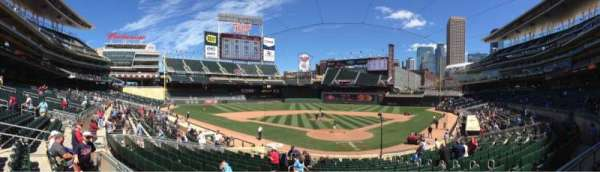 Target Field, section: 116, row: 7, seat: 8