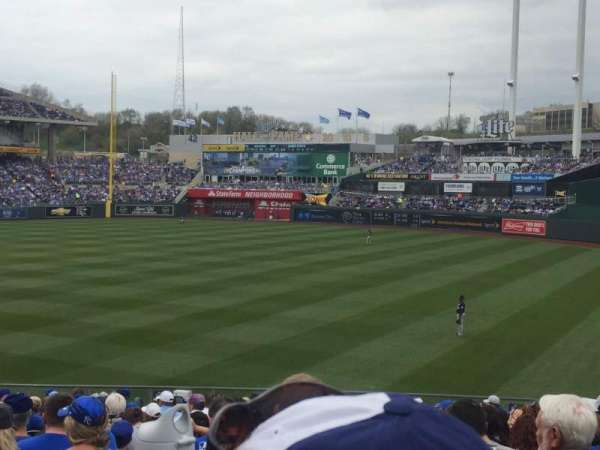 Kauffman Stadium, section: 246, row: BB, seat: 5