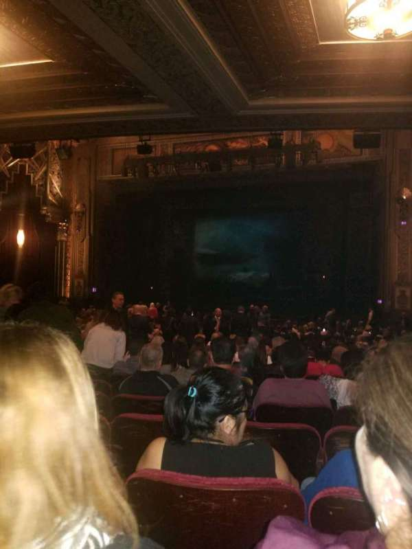 Hollywood Pantages Theatre, section: Orchestra RC, row: RR, seat: 208