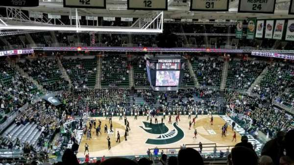 Breslin Center, section: 210, row: 11, seat: 108