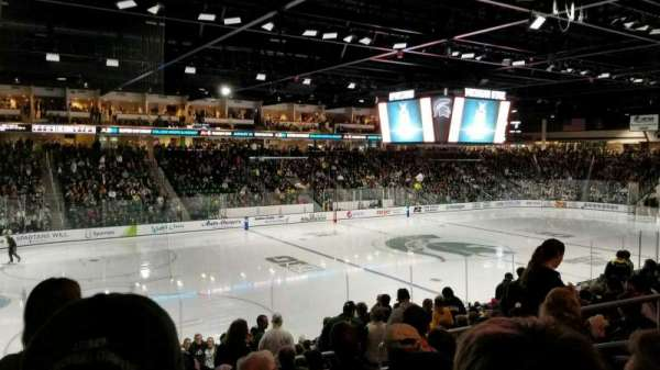 Munn Ice Arena, section: L, row: 17, seat: 10