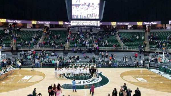 Breslin Center, section: 110, row: 18, seat: 104