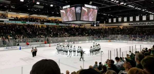 Munn Ice Arena, section: W, row: 10, seat: 12