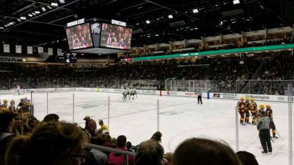 Munn Ice Arena, section: F, row: 8, seat: 8