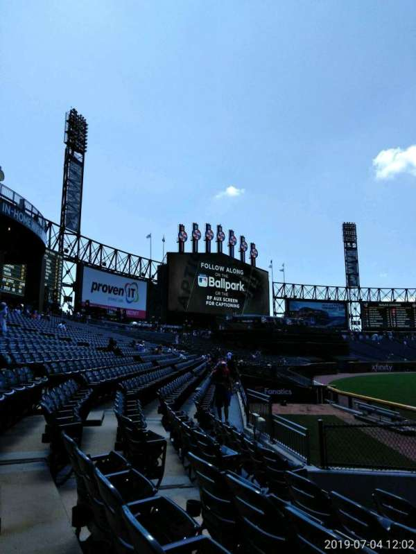 Guaranteed Rate Field, section: 155, row: 19, seat: 7