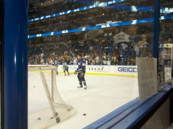 Amalie Arena, section: 129, row: a, seat: 5