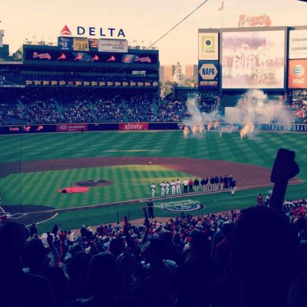Turner Field, section: 205, row: 16, seat: 8