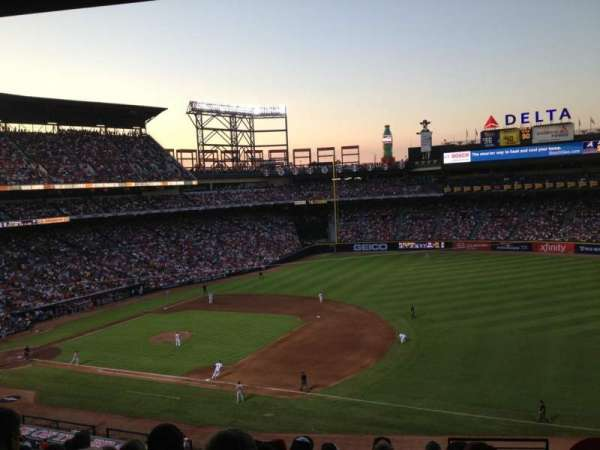 Turner Field, section: 317L, row: 9, seat: 102