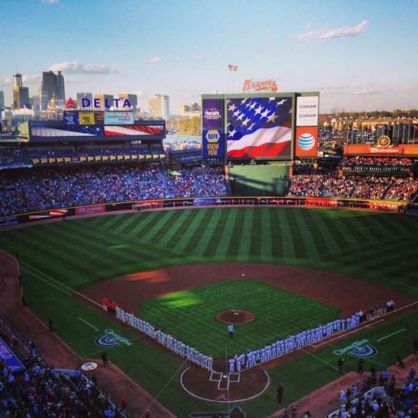 Turner Field, section: 401L, row: 10, seat: 102