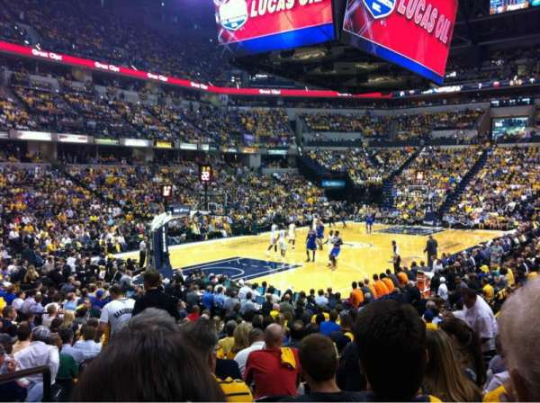 Bankers Life Fieldhouse, section: 8, row: 19, seat: 6