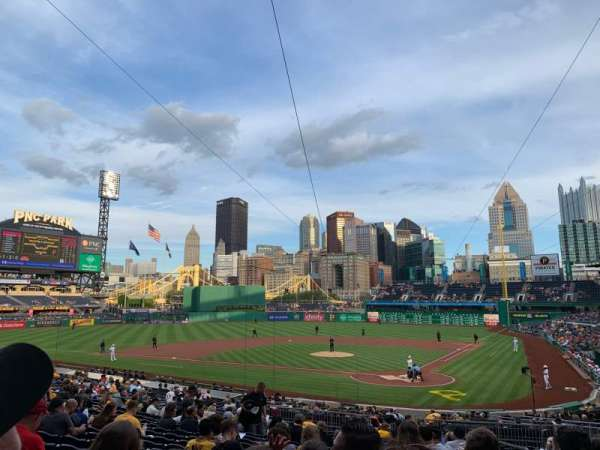 PNC Park, section: 119, row: U, seat: 3