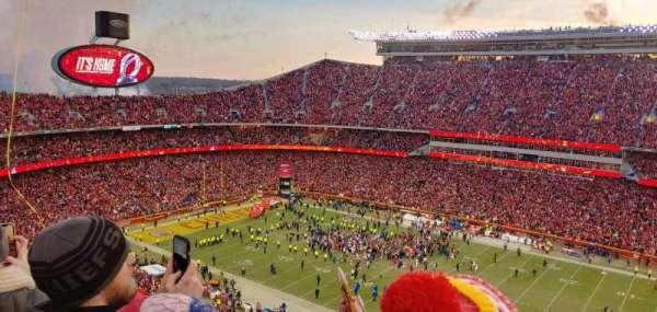Arrowhead Stadium, section: 344, row: 23, seat: 1