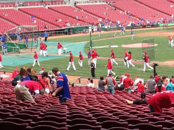 Great American Ball Park, section: 133, row: MM, seat: 18