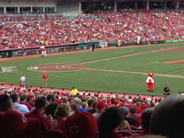 Great American Ball Park, section: 131, row: Mm, seat: 8