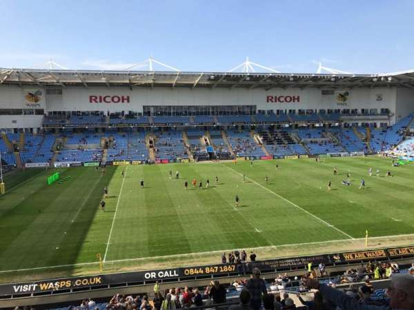 Ricoh Arena, section: 18, row: NN, seat: 1