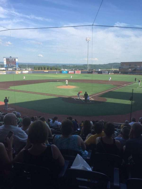Monongalia County Ballpark, section: 104, row: O, seat: 18