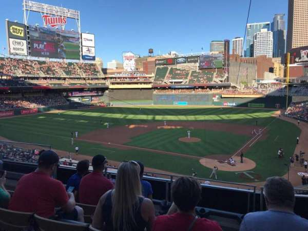 Target Field, section: K, row: 4, seat: 11